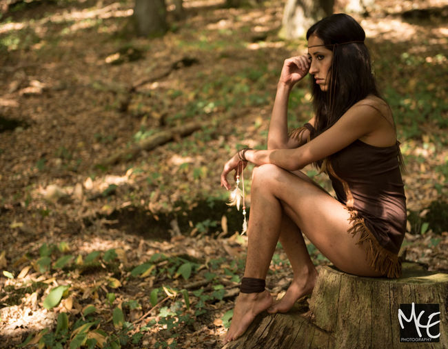 Beauty In Nature Forest Model Nature One Person Only Women Outdoors Young Adult