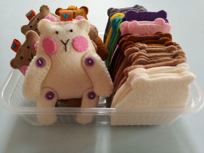 Handmade Felt Toys Dolls Children Plush Doll Bear Bears Bears🐻