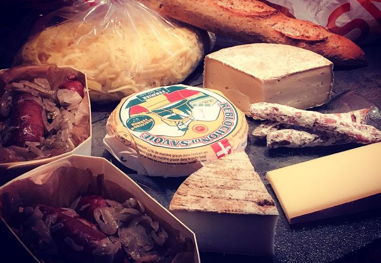 Fondue Savoyarde Diots Lake Annecy France  Annecy, France Thones Haute-Savoie  Fromages Francais Food And Drink Food Meat Freshness No People Indoors  Healthy Eating