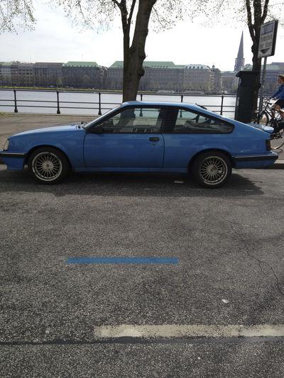 Blue Blue Ribbon Composition Marathon Race Narrow Opel Monza Outdoors Photograpghy  Streetphotography Sunshine Vintage Cars