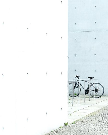 Battle Of The Cities // bike portrait in Berlin // Bicycle Stationary Wall - Building Feature Transportation Land Vehicle Mode Of Transport Parked Day Outdoors No People Fujifilm Minimalism