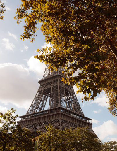If Trees Could Speak Iftreescouldspeak Eiffel Tower France Paris Paris ❤ Paris, France  Architecture Autumn Beauty In Nature Branch Building Exterior Built Structure Cloud - Sky Day Eiffel Growth Leaf Low Angle View Nature No People Outdoors Parisian Sky Tower Travel Destinations Tree