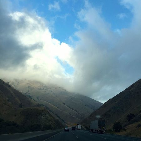 The Journey Is The Destination Early morning drive on I-5 through Lebec, California. Transportation Mountain Road Sky The Way Forward Mountain Range Mode Of Transport Cloud Highway Landscape Diminishing Perspective Vanishing Point Cloudy Non Urban Scene Idyllic Empty Nature Outdoors Tranquil Scene Tranquility Road Marking Beauty In Nature Country Road Remote