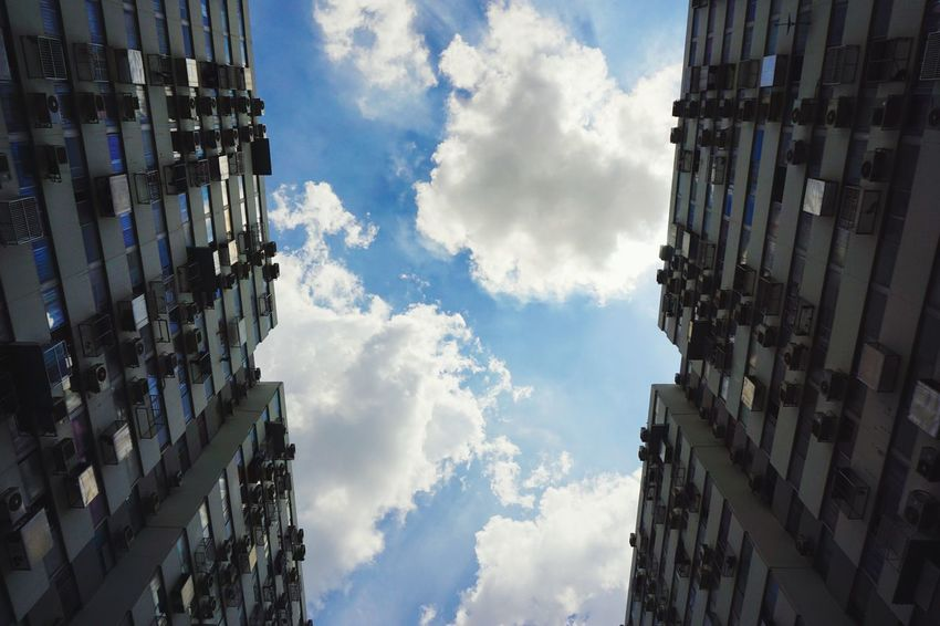 Architecture Building Exterior Cloud - Sky Sky Built Structure Low Angle View Day City Apartment Outdoors
