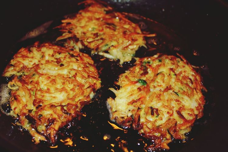 latkes Latkes Cooking Potato Pancakes Zucchini Homemade Hungry