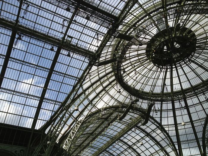 Grand Palais Indoors  Low Angle View Ceiling Pattern Window No People Architecture Day Sky Capture Tomorrow 17.62° My Best Photo