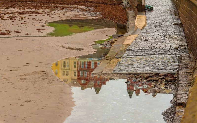 Stones Beach Water Water High Angle View Reflection Land Beach Nature Puddle Day No People Sand Architecture Sea Outdoors Tranquility Built Structure Dirt Waterfront Tranquil Scene My Best Photo
