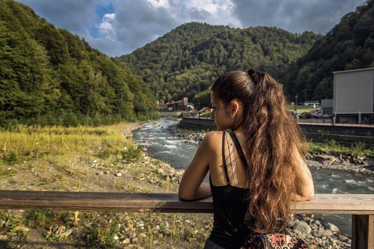 Сочи, Красная поляна Sochi Krasnaya Polyana Sammer Holidays Landscape Beatiful Woman Travel First Eyeem Photo
