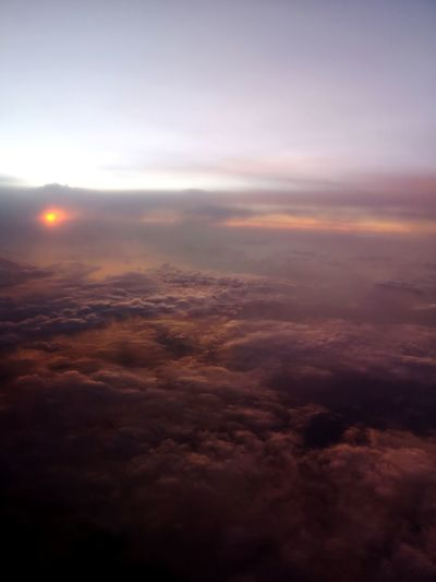 Dawn, somewhere just north of Hawaii.... Sunrise Space Astronomy Planet Earth Fog Sunset Ethereal Aerial View Dramatic Sky Weather Cloudscape Cumulus Cloud Moody Sky