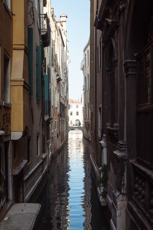 Alley Architecture Building Building Exterior Built Structure Canal City Day Direction Narrow Nature No People Outdoors Reflection Residential District Sky The Way Forward Venice Water Waterfront