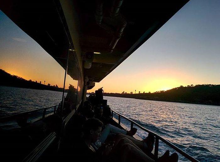 Sydney Ferryride Collaroy Ferry Sydneyharbour Sunset Reflection Beauty Dusk Nofilter Nexus5 Hdrplus