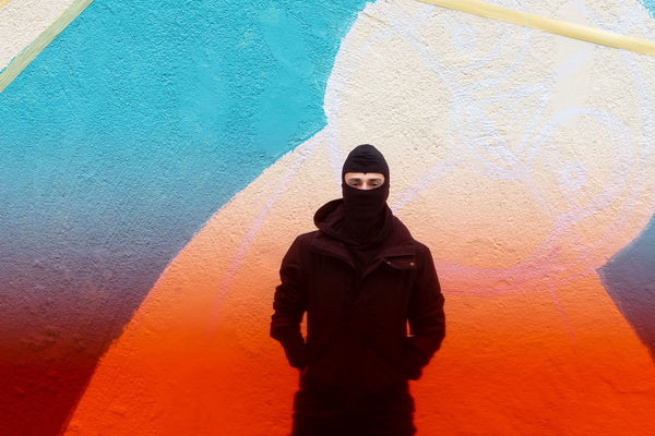 Wall Wall - Building Feature Gradient Color Gradient Multi Colored Men Colors Colours Portrait Looking At Camera Standing Graffiti Vandalism Mural Orange Color Colorful Autumn Mood This Is Strength