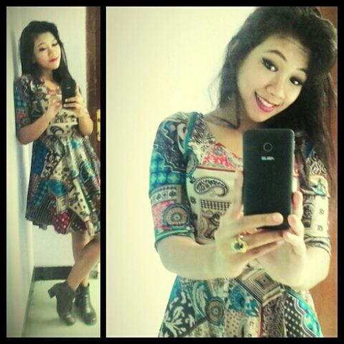 """@OOTDINDO outfit of the day , """"BATIK"""" with """"BLUE SAPPHIRE"""""""