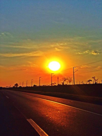 Fridaythe road] Sunset Friday