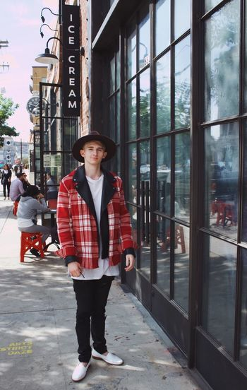 With my flannel on Portrait Fashion Los Angeles, California Style Architecture Full Length One Person Young Adult City Real People Building Exterior Lifestyles Outdoors Clothing Standing The Street Photographer - 2018 EyeEm Awards