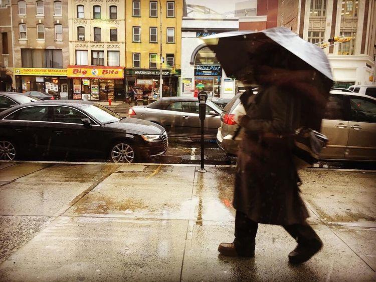 Rain Newark Umbrella Walking Streetphotography