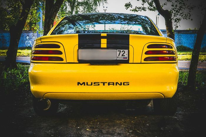 Yellow Car Mustang Ford Ponycar