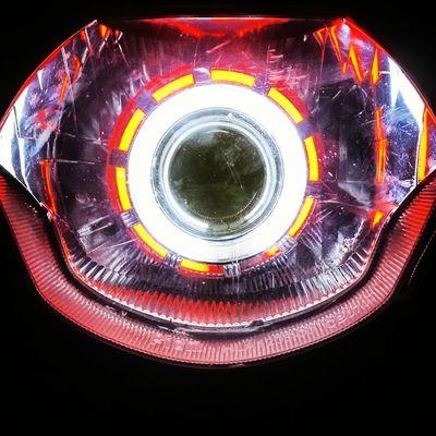 Projector LED Light Headlight Upgrade Custom Redwhite Red White Customize Suzuki 🚨💡😍😘📷