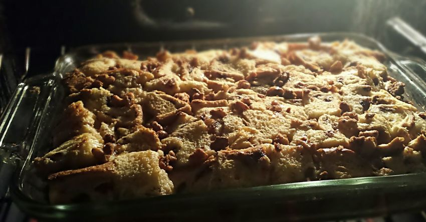 Baking :) Breadpudding Relaxing Home Sweet Home