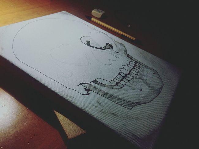 -One and half.' Bones Skull Hearth ArtWork Inprocess