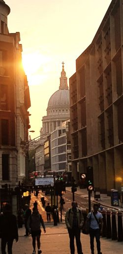 St Paul's Cathedral Evening Cannon Street London City Politics And Government Architecture Sky Building Exterior Built Structure Travel Office Building City Street Pedestrian Rush Hour Urban Skyline Cityscape
