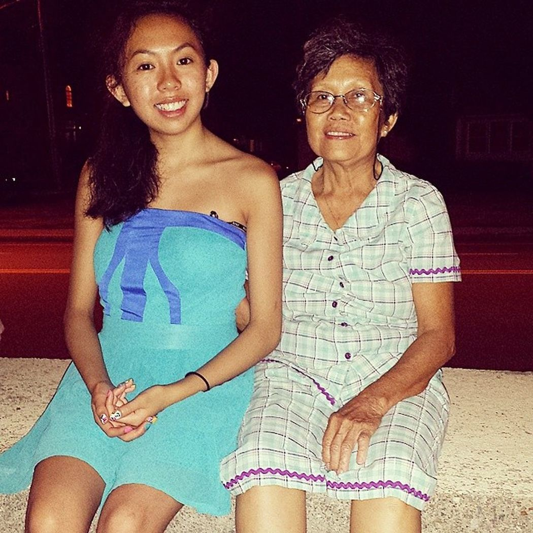 With my grandma's cousin in law, who's visiting from Vietnam