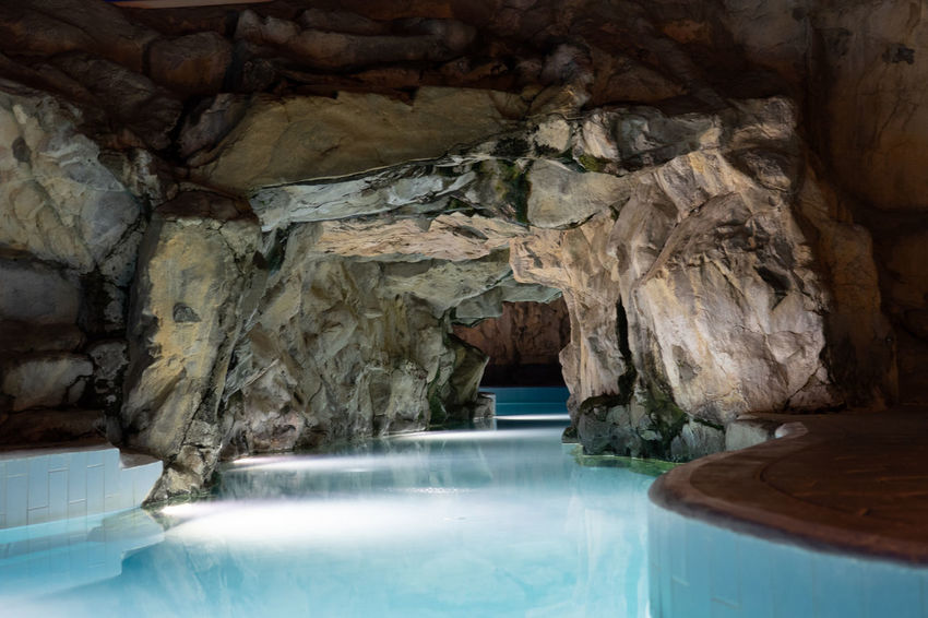 Beauty In Nature Cave Day Eroded Geology Indoors  Nature No People Physical Geography Pool Rock Rock - Object Rock Formation Scenics - Nature Solid Swimming Pool Tranquility Travel Destinations Turquoise Colored Water Waterfront