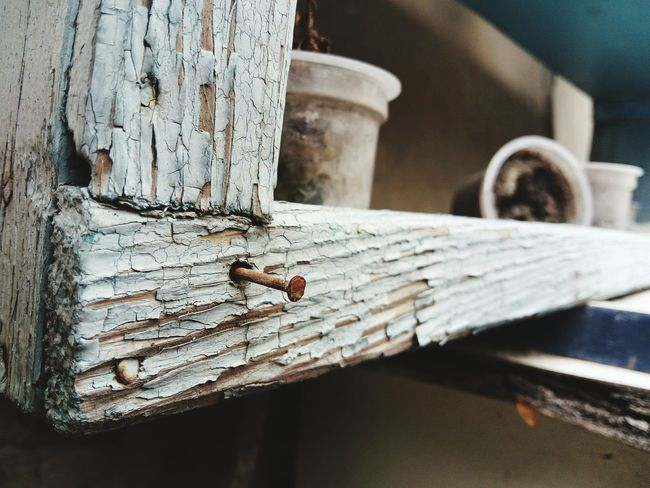 Wood - Material Time Worn Old Moldy Nail Focus On Foreground Outdoors Old Paint Mobilephotography LeEco Letv LeTv X600