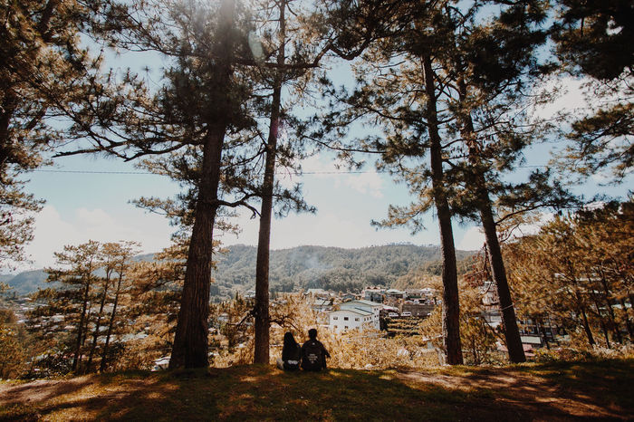 Lovers over nature. Adult Beauty In Nature Couple Day Folk Full Length Landscape Love Men Nature One Person Only Men Outdoors People Photographer Real People Scenics Sky Tree Tree_collection  Women