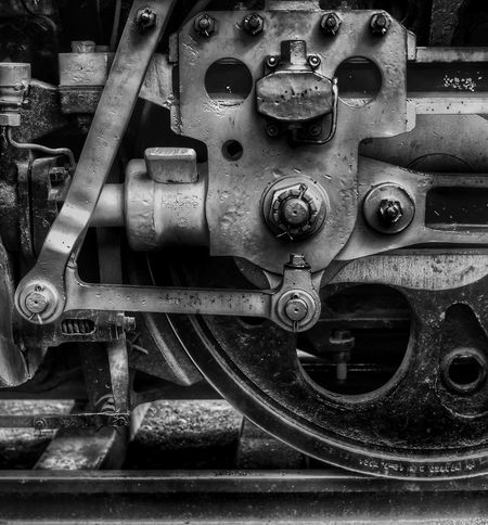 Metal Machine Part Machinery Industry Technology Close-up SL 蒸気機関車 Factory Steam Train Steamtrain Steam Locomotive Locomotive Olympus Om-d E-m10 EyeEm Black And White Blackandwhite モノクローム モノクロ Black & White