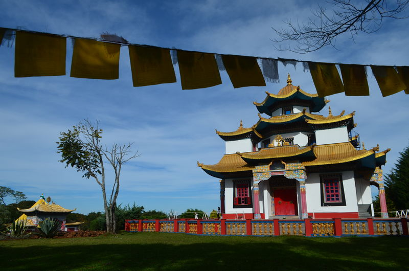 Chagdud Gonpa Nature Budism Budismo Colorful Cultures Flag No People Pace Pray Flag Religion Travel Destinations Temple
