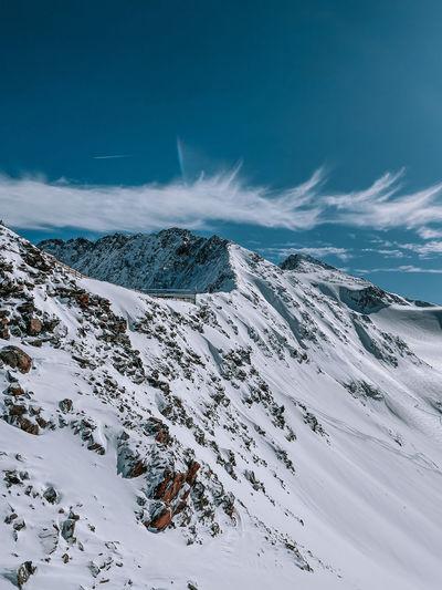 Stubai ski resort landscape