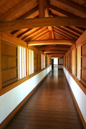 Hallway Japan Japanese  Japanese Style Path Wooden Floor Wooden Path Wooden Beams Wooden Walkways