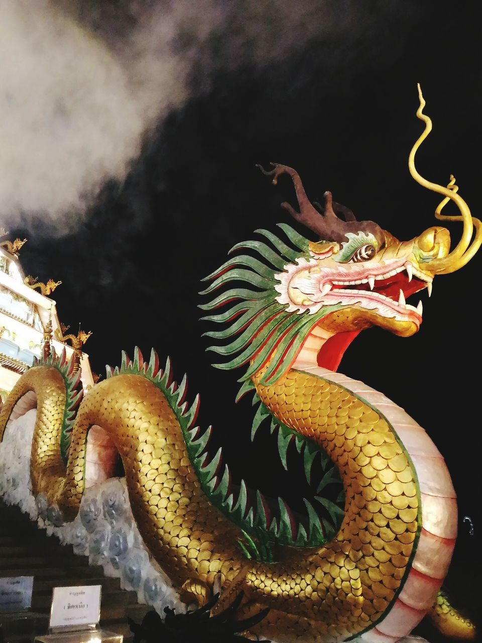 dragon, chinese dragon, statue, sculpture, no people, indoors, day, animal themes, close-up