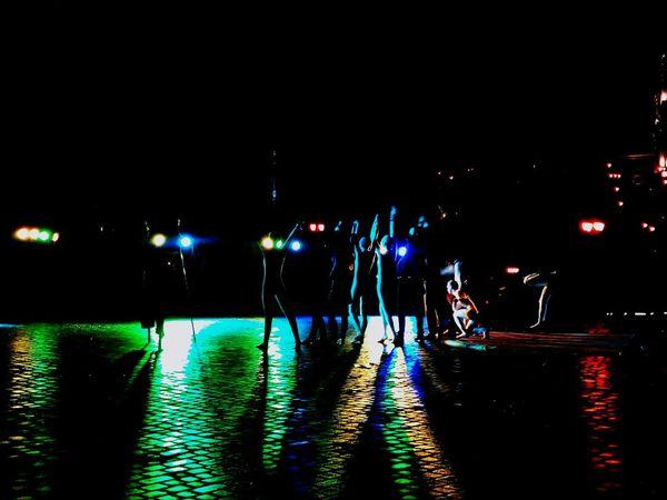 Lights Deep Night Darkness And Light Rainbow Lights