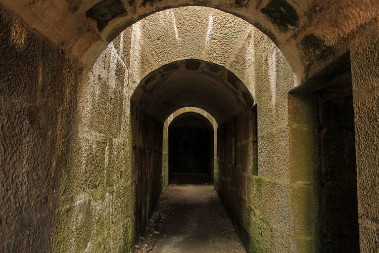 Absence Ancient Arcade Arch Arched Architectural Column Architecture Building Built Structure Cellar Corridor Day Direction Empty History Indoors  No People Old Stone Wall The Past The Way Forward Wall Wall - Building Feature