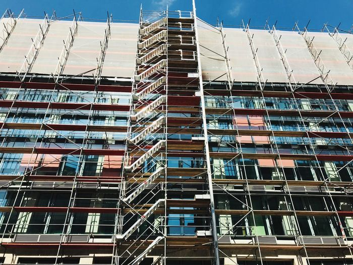 Building Exterior Berliner Ansichten Berlin Construction Architecture Built Structure Building Exterior No People Day Low Angle View Pattern Full Frame Building Construction Site Sunlight
