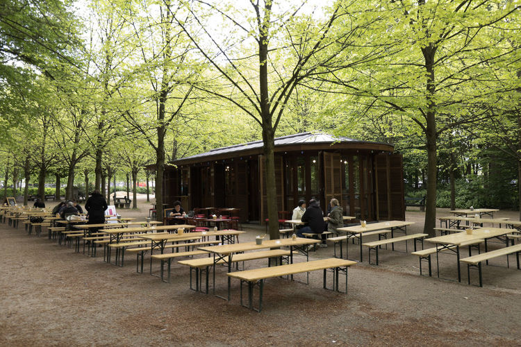 Brussels, Belgium. May 3, 2018: Terrace with people taking a drink in Brussels capital of Belgium. Horizontal take of day. Belgium Brussels Nature Travel Tree Architecture Bench Built Structure Business Cafe Chair Day Empty Group Of People Incidental People Nature Outdoors People Plant Real People Restaurant Seat Sitting Table Tree