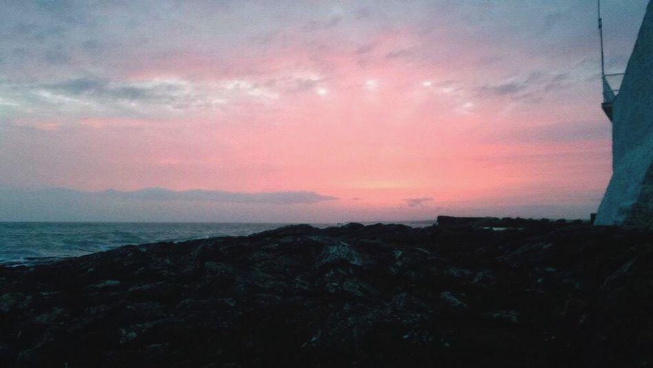 Red Skies Sunset Red Sky Hook Lighthouse Dusk Sky Sea Cloud - Sky
