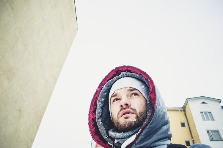 Human Body Part One Person Human Face Looking Up Portrait People Human Eye Beard Outdoors Men Day Only Men One Man Only Close-up Its Me Street Weather Colors Winter EyeEm Gallery Selfie ✌ Travel Real People Photography EyeEm Best Shots