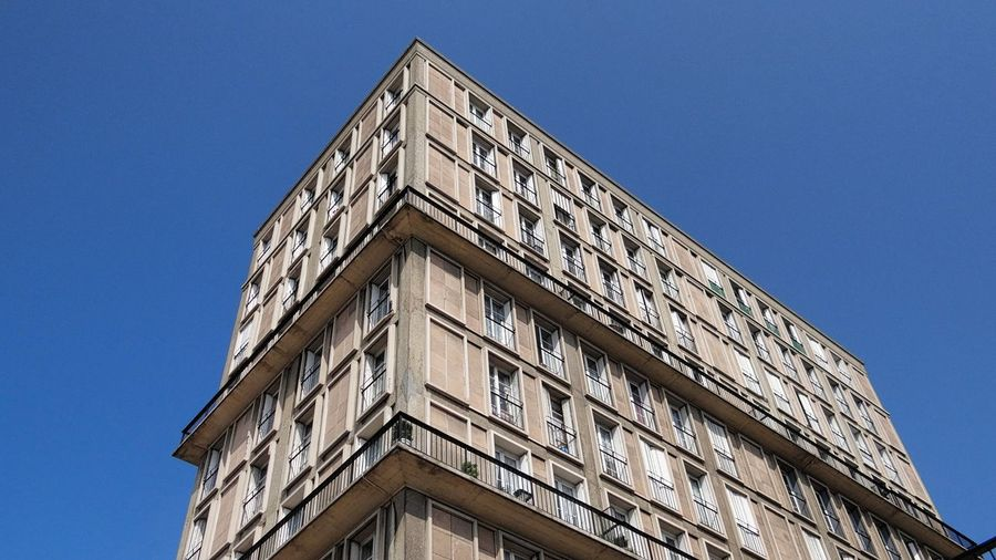 Reconstruction by the ARCHITECT Auguste Perret after the Second World War of Building in Reinforced Concrete UNESCO World Heritage Site Unesco Blue Sky Architecture The Architect - 2016 EyeEm Awards Uniformity