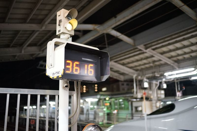 Timer Communication Sign Text Focus On Foreground Guidance Illuminated Architecture Directional Sign Information Information Sign No People