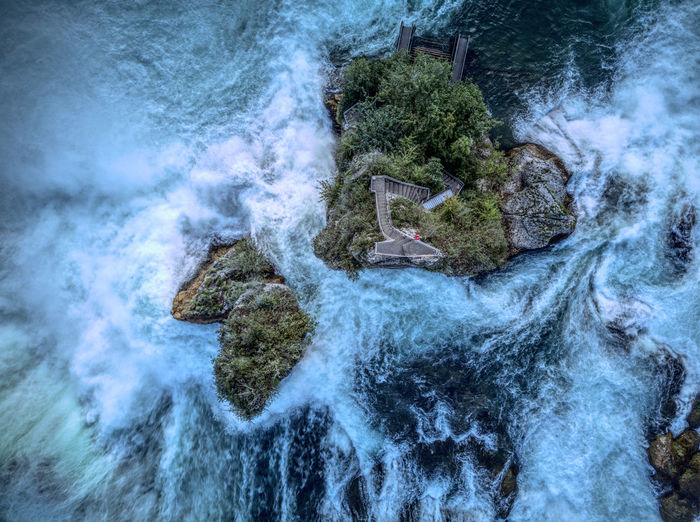 Drone  Enjoying The View Nature Rheinfall Beauty In Nature Dronephotography Droneshot Mavic Mavic Pro Motion Nature No People Outdoors Power In Nature Schaffhausen Switzerland Tourism Water Waterfall Perspectives On Nature