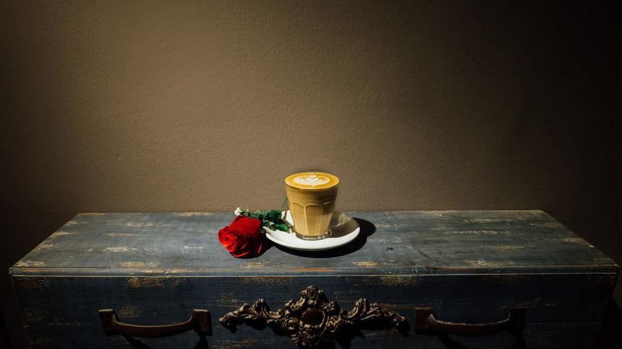 Cafe Coffee Latte Latteart Retro Roselatte