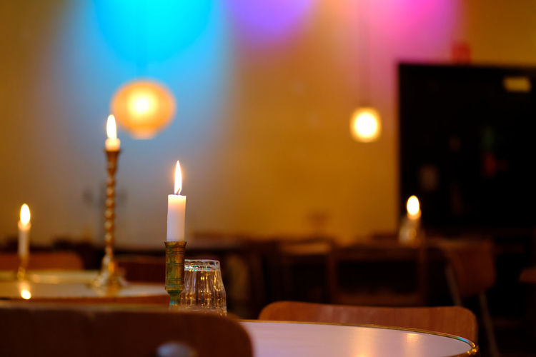 Indoor candles.