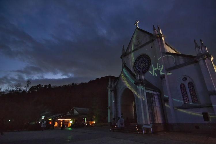 博物館明治村 聖ザビエル天主堂 明治村 聖ザビエル天主堂 Evening Sky Evening View Night Architecture Cityscape Outdoors Illuminated