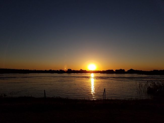 Sunset on the Zambezi River Sunset Sun Beauty In Nature Nature Silhouette Scenics Water Sunlight