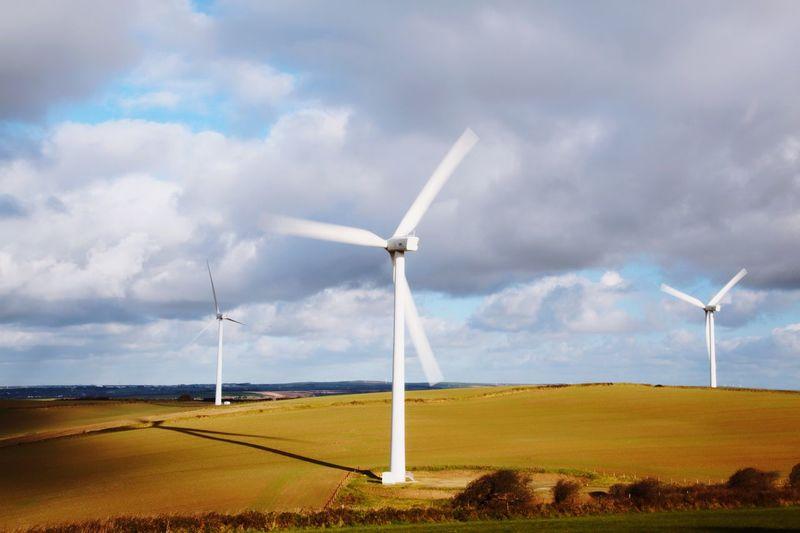 Wind farm movement. Alternative Energy Environmental Conservation Wind Power Wind Turbine Fuel And Power Generation Renewable Energy Field Sky Rural Scene Landscape Cloud - Sky Day No People Technology