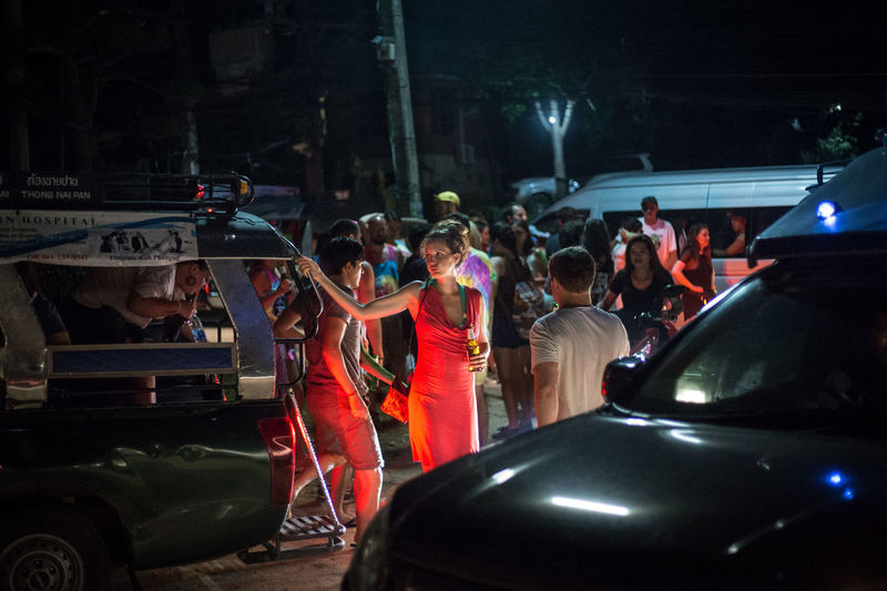 Partygoers arriving in Haad Rin town, to attend the famous Full Moon Party event. The Photojournalist - 2017 EyeEm Awards