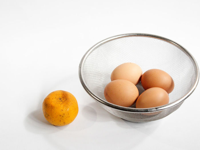 #egg #eggtart #eggphotography #egglover #chickenegg #chickeneggs Orange Color Orange - Fruit Different EyeEm Gallery White Background Studio Shot Fruit Basket Bowl Close-up Sweet Food Food And Drink Egg Egg Yolk
